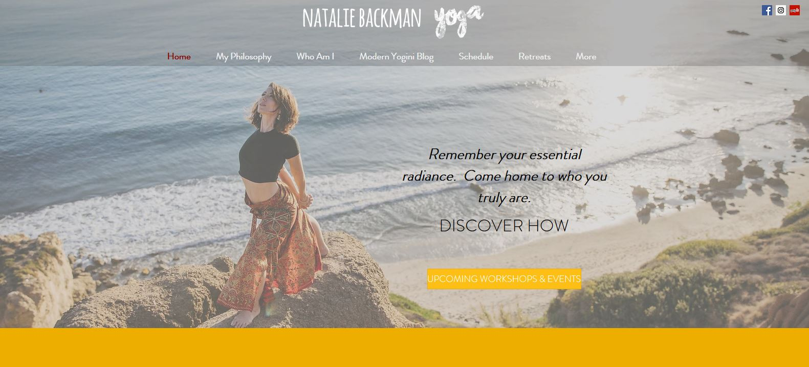 Website Natalie Backman Yoga