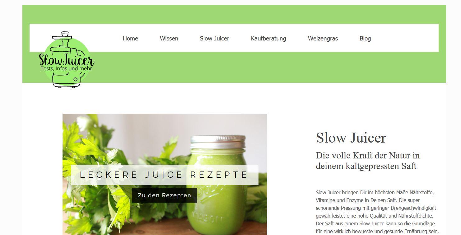 Website SlowJuicerTest