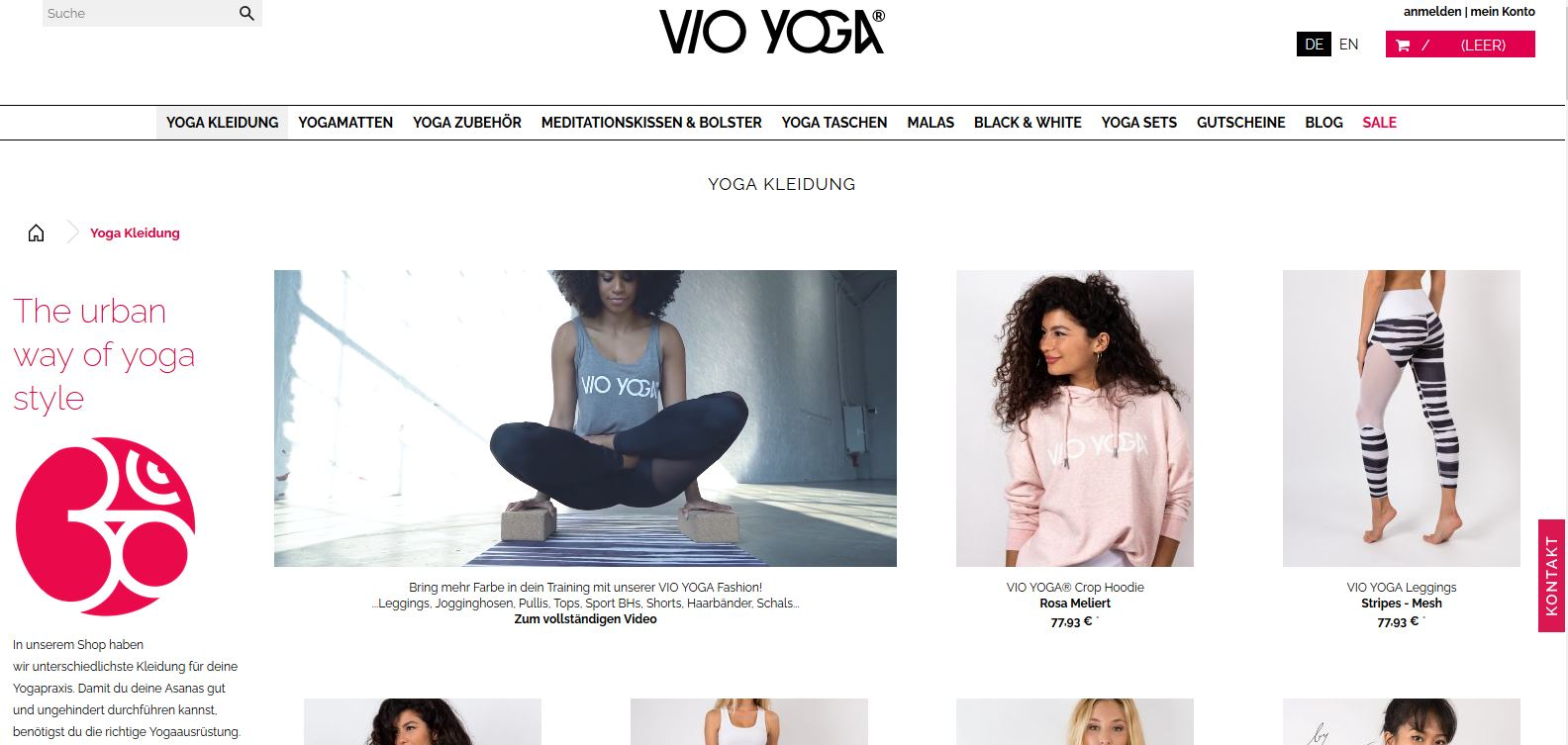 Website Vio Yoga