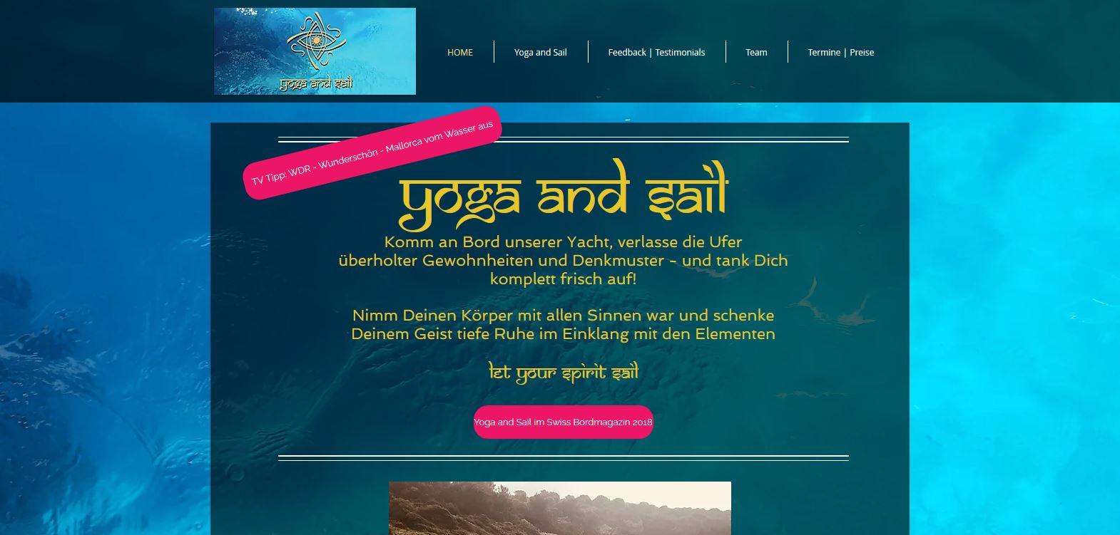 Webiste Yoga&Sail
