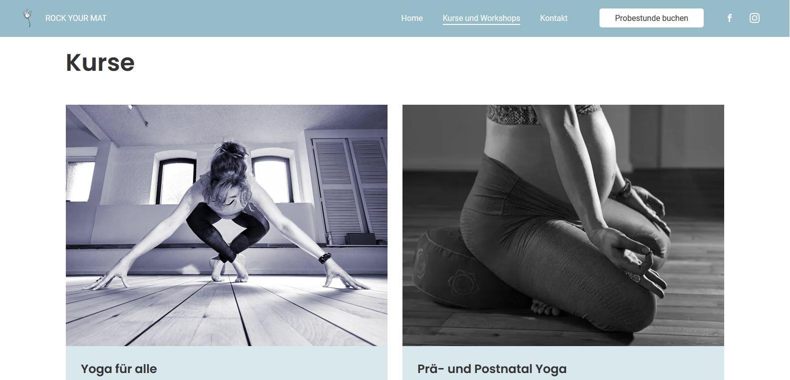 Website Rock your mat